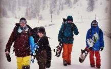 Horsefeathers International Snowboard Team in Italy
